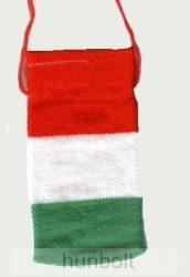 Mobiltartó - Nemzeti színű textil  (6X11cm)
