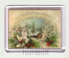 Karácsonyi hűtőmágnes IV. (műanyag keretes)