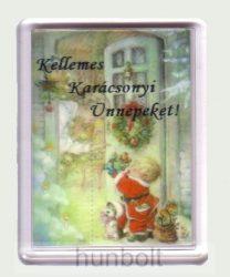 Karácsonyi hűtőmágnes V (műanyag keretes)