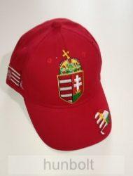 Baseball nagy címeres piros sapka, Nagy-Magyarország hímzéssel