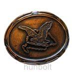 Sötét bronz Nagy-Magyarországos nagy turulos övcsat (7,5X6,5 cm)