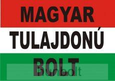 Nemzeti színű Magyar tulajdonú bolt felirattal matrica