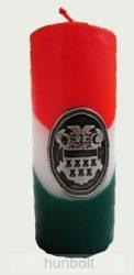 Nemzeti színű tuskógyertya 12 cm, Erdély ónmatricával (3,2x4 cm)
