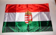 Kétoldalas nemzeti színű címeres zászló