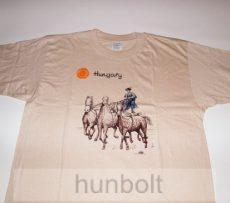 Lovas felnőtt póló világos bézs XL méret