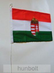 Nemzeti színű címeres megkötős zászló biciklire és hajóra