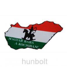Nemzeti színű Magyarország Magyar baba a kocsiban külső matrica (14X8 cm)