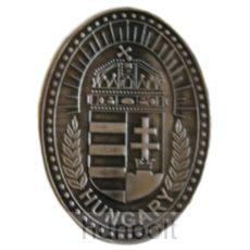 Koszorús címeres ovális ón matrica 6X4,5 cm