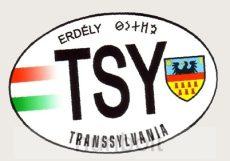 Ovális TSY Erdély matrica 7,5x5 cm