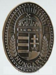 Koszorús címeres ovális ón hűtőmágnes