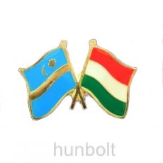 Kitűző, páros zászló Székely-Magyar jelvény 2,5x1,5 cm