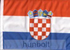 Horvát címeres 2 oldalas hajós zászló