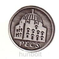 Ón Pécs címkés talpas pálinkás pohár (tulipános, grappás pohár)  85ml ón Pécs címer 6db