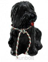 Puli kutya hűtőmágnes,  5,5cm- fekete