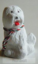 Puli kutya hűtőmágnes,  5,5cm- fehér