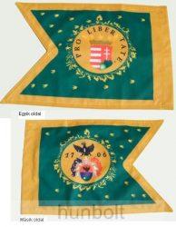 Kétoldalas Rákóczi zászló másolata poliészter anyagból 30x40 cm-es
