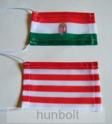 Magyar nemzeti címeres zászló antennára, biciklire, 10x6 cm