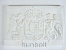 Kicsi, fehér angyalos címer műkő (30x21 cm)