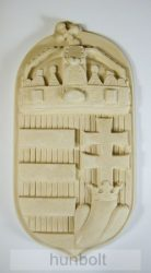 Címer bézs műkő 46x23 cm
