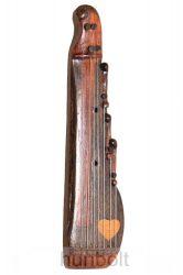 Citera - fából készült miniatűr népi hangszer (MÉRET: 10,5 x 2,8 x 1,5 cm)