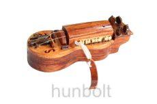 Tekerőlant, miniatűr, fából készült népi hangszer