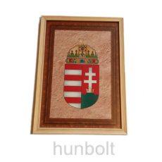 Fakeretes, üveglapos falikép, címeres, nyomtatott kerettel A4