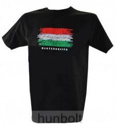 Magyarország feliratos, zászlós póló, M méret