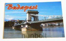Budapest hűtőmágnes - Lánchíd 9,5x 6,5cm