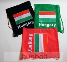 Zászlós táska, tornazsák zöld színben