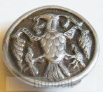 Rakamazi kerek ezüst övcsat 6,5 cm