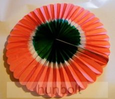 Kokárda papírból piros szélű, átmérő: 45 cm