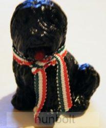 Fekete pulikutya, 6cm
