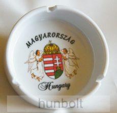 Angyalos címeres kerámia hamutá Hungary-Magyarország felirattal-10 cm átmérőjű