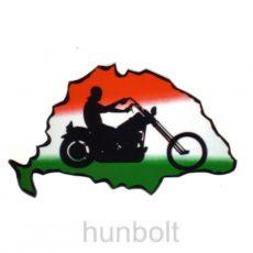 Nagy-Magyarország nemzeti színű motoros autós matrica (15 x 10 cm), külső