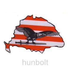 Nagy-Magyarország árpádsávos szürke turulos autós matrica (15x10 cm), belső
