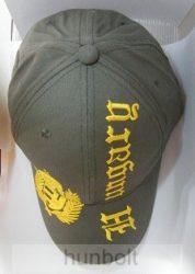 Baseball koszorús címeres világos kheki sapka, sárga színű Hungary felirattal