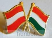 Kitűző, páros zászló Osztrák-Magyar jelvény 26x15 mm