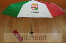 Nemzeti színű címeres, Hungary feliratos automata esernyő