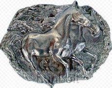 Vágtató lovak övcsat
