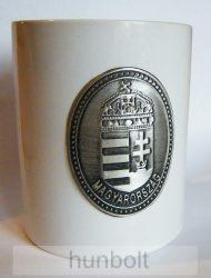 Fehér 2,5 dl-es bögre, ón Kossuth címkével