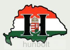 Nagy-Magyarország nemzeti színű sötét H címeres hűtőmágnes