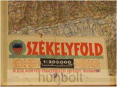 Székelyföld íves térképe 1:200 000