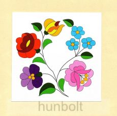 Kalocsai virágok matrica 10 x10 cm