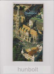 Puzzle képeslap Budapest, Mátyás-templom, 12x23 cm