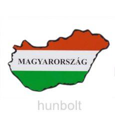Nemzeti színű Magyarország külső matrica Magyarország felirattal (14X8 cm)