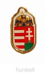 Aranyszélű címer  jelvény  25 mm