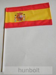 Spanyol zászló 15x25cm, 40cm-es műanyag rúddal