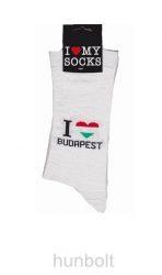 I LOVE Budapest boka zokni fehér 36-40