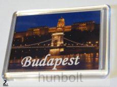 Budapest feliratos műanyag keretes hűtőmágnesek
