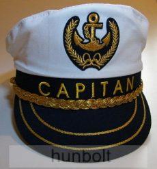 Kapitány sapka, arany zsinóros, állítható méretű